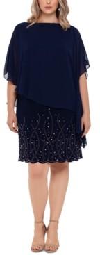 Xscape Evenings Plus Size Embellished Overlay Shift Dress
