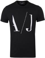 Armani Jeans Black Aj Print T-shirt