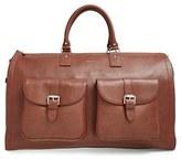 hook + ALBERT Men's Leather Garment/duffel Bag - Brown