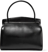 Jil Sander Glossed Textured-Leather Shoulder Bag