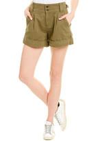 Current/Elliott Olive Green Relaxed Army Linen-Blend Short