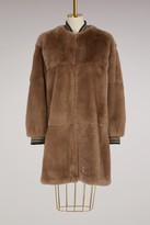 Yves Salomon Rabbit fur coat