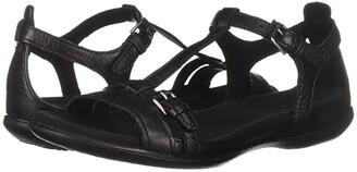 Ecco Flash Buckle Sandal (Black) Women's Sandals