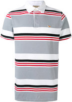 MAISON KITSUNÉ striped polo shirt - men - Cotton/Linen/Flax - S