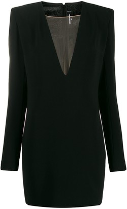 DSQUARED2 plunge V-neck mini dress