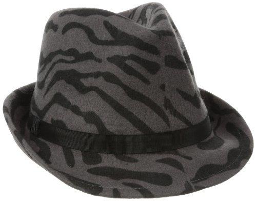 San Diego Hat Company San Diego Hat Women's Animal Print Wool Felt Fedora Hat