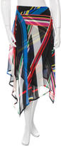 Preen Silk Printed Skirt
