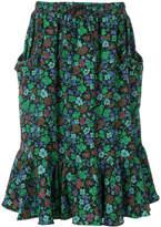 Coach floral print ruffled skirt