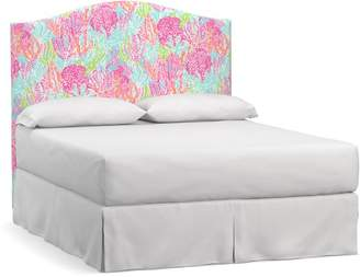 Pottery Barn Lilly Pulitzer Raleigh Curved Tall Headboard