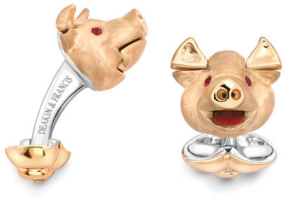Deakin & Francis Pig Head Cuff Links