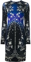 Roberto Cavalli rose and star fitted dress