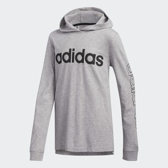adidas Heathered Hooded Linear Tee