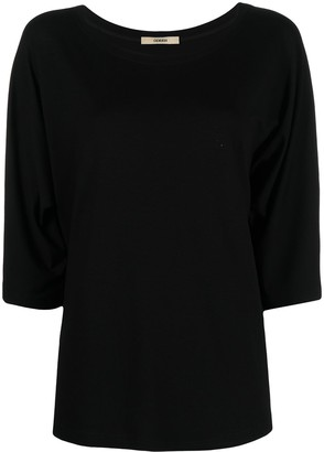 Odeeh loose-fit cropped-sleeve T-shirt