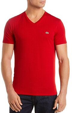 Lacoste V-Neck Pima Cotton Tee