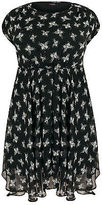 Yours Clothing YoursClothing Plus Size Womens Butterfly Print Chiffon Skater Short Dress Ladies