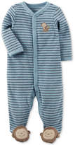 Carter's Striped Monkey Terry Footed Coverall, Baby Boys