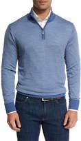 Peter Millar Collection Merino-Silk-Cashmere Birdseye Quarter-Zip Sweater