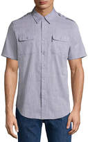 Ecko Unlimited Unltd Short Sleeve Button-Front Shirt