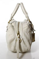 Marc by Marc Jacobs Creme Leather Gold Tone Pleated Satchel Handbag