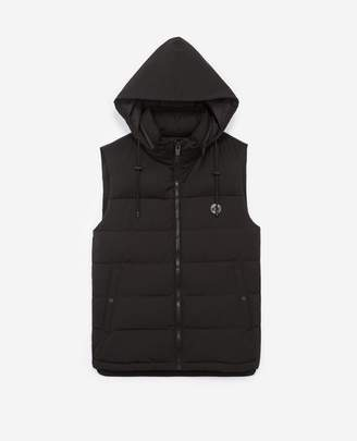 The Kooples Black nylon sleeveless down jacket with zip
