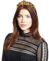 Jennifer Behr Magdalena Rose Crown Circlet, Crystal/Gold
