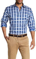 Bugatchi Long Sleeve Gingham Dress Shirt