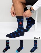 Pringle Stripe 3 Pack Gift Pack Socks Gray