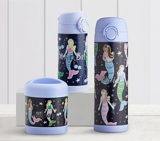 Pottery Barn Kids Mackenzie Navy Mermaids Hot & Cold Container