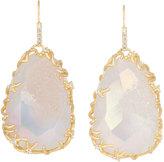 Kendra Scott Large Branch-Bezel Druzy Drop Earrings