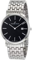 Pierre Petit Men's Serie Nizza silver stainless-steel band watch.