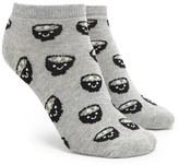 Forever 21 FOREVER 21+ Smiling Soup Print Ankle Socks