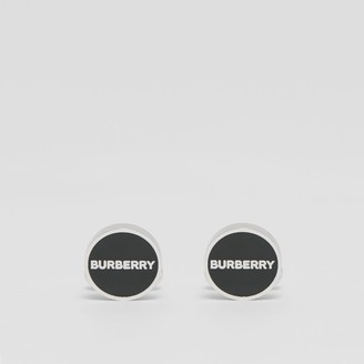 Burberry Logo Detail Palladium-plated Cufflinks