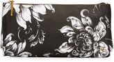 Elliott Lucca Floral Three-Way Clutch Bag, Black/White