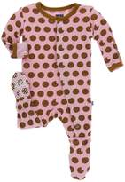 Kickee Pants Pink Cookie Footie