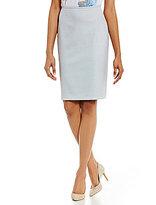 Calvin Klein Birdseye Stretch Suiting Pencil Skirt