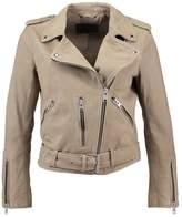 AllSaints BALFERN BIKER Leather jacket taupe