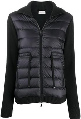 Moncler Zip-Up Padded Panelled Jacket