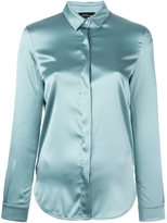 Les Copains concealed front fastening shirt