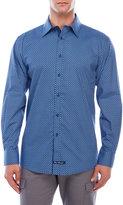 English Laundry Dotted Diamond Print Woven Sport Shirt