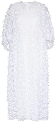 Cecilie Bahnsen Karmen sheer floral-applique silk dress