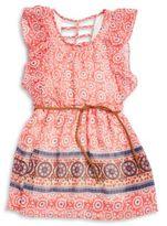 Dex Little Girl's Belted Floral Dress