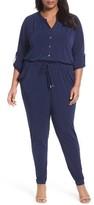 MICHAEL Michael Kors Plus Size Women's Roll Sleeve Jumpsuit