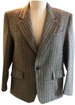 Gianni Versace Grey Wool Jacket for Women Vintage