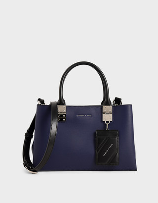 Charles & Keith Double Top Handle Structured Bag