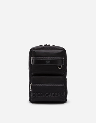 Dolce & Gabbana Sicilia Dna Nylon Backpack With Rubberized Logo