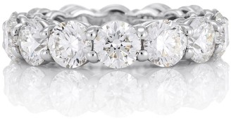 De Beers Platinum DB Classic Full Eternity 0.5ct diamond band