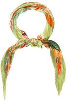 Hermes Kuggor Tree Silk Plissé Scarf