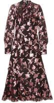 Erdem Faylinn Ruffled Fil Coupé Cotton-blend Organza Midi Dress - Pink