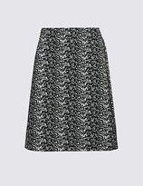 M&S Collection Jacquard Print A-Line Mini Skirt