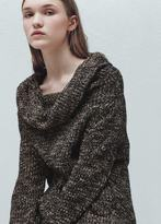 Mango Outlet Flecked cotton-blend sweater